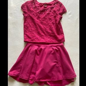 Pink Justice for girls outfit